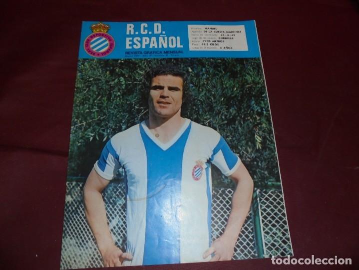 Coleccionismo deportivo: magnificas 11 revistas,grafica mensual R.C.D. ESPAÑOL - Foto 4 - 172164705