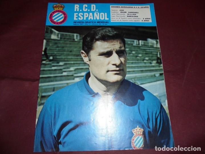 Coleccionismo deportivo: magnificas 11 revistas,grafica mensual R.C.D. ESPAÑOL - Foto 5 - 172164705