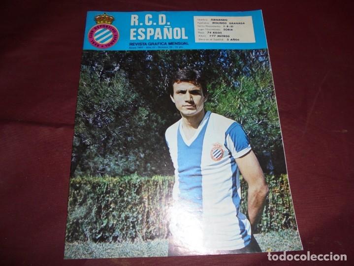 Coleccionismo deportivo: magnificas 11 revistas,grafica mensual R.C.D. ESPAÑOL - Foto 6 - 172164705