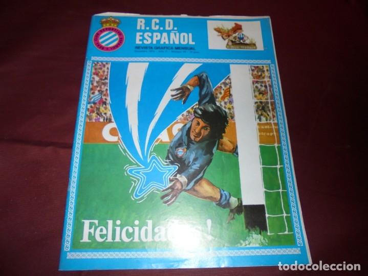 Coleccionismo deportivo: magnificas 11 revistas,grafica mensual R.C.D. ESPAÑOL - Foto 7 - 172164705