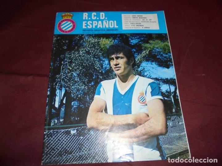 Coleccionismo deportivo: magnificas 11 revistas,grafica mensual R.C.D. ESPAÑOL - Foto 8 - 172164705