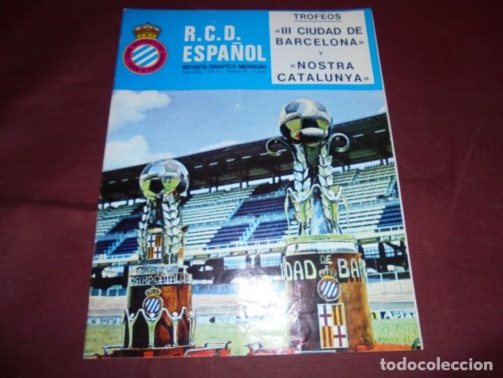 Coleccionismo deportivo: magnificas 11 revistas,grafica mensual R.C.D. ESPAÑOL - Foto 10 - 172164705