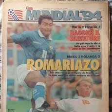 Coleccionismo deportivo: MUNDIAL USA 1994 SUPLEMENTO DEPORTIVO DIARIO CLARIN DE ARGENTINA ESPAÑA 1 ITALIA 2 10/7/94. Lote 172460503