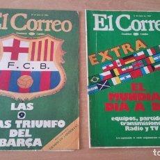 Collectionnisme sportif: 2 REVISTAS EXTRA EL CORREO AÑO 1982 EL MUNDIAL Y LAS 9 LIGAS DEL BARÇA. Lote 172973507