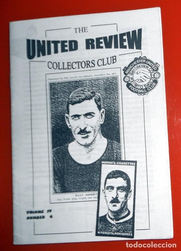 REVISTA FANZINE ANTIGUO RARO FÚTBOL COLLECTORS CLUB COLECCIONISTAS -UNITED REVIEW MANCHESTER UNITED (Coleccionismo Deportivo - Revistas y Periódicos - otros Fútbol)