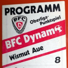 Coleccionismo deportivo: PROGRAMA FÚTBOL ANTIGUO TEMPORADA 88/89 OBERLIGA BFC DYNAMO BERLÍN - WISMUT AUE. Lote 173599999