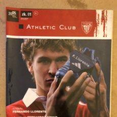 Coleccionismo deportivo: ATHLETIC CLUB REVISTA OFICIAL N° 1 (OCTUBRE 2005). FERNANDO LLORENTE, FERNANDO LAMIKIZ, JOAN LAPORTA. Lote 173822088