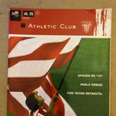 Coleccionismo deportivo: ATHLETIC CLUB REVISTA OFICIAL N° 5 (JUNIO 2006). PABLO ORBAIZ, SAN MAMÉS BERRIA CON TECHO RETRÁCTIL,. Lote 173822229