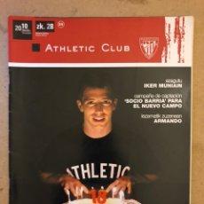 Coleccionismo deportivo: ATHLETIC CLUB REVISTA OFICIAL N° 28 (DICIEMBRE 2010). IKER MUNIAIN, PLAN DIRECTOR LEZAMA,.... Lote 173822724