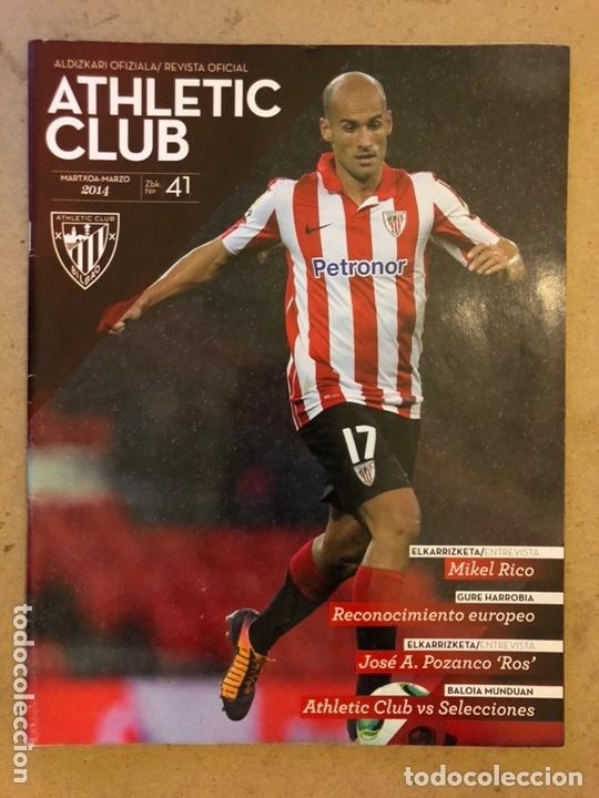 ATHLETIC CLUB REVISTA OFICIAL N° 41 (MARZO 2014). MIKEL RICO, ATHLETIC VS SELECCIONES,... (Coleccionismo Deportivo - Revistas y Periódicos - otros Fútbol)