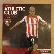 Coleccionismo deportivo: ATHLETIC CLUB REVISTA OFICIAL N° 41 (MARZO 2014). MIKEL RICO, ATHLETIC VS SELECCIONES,.... Lote 173822809