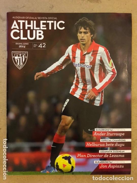 ATHLETIC CLUB REVISTA OFICIAL N° 42 (JUNIO 2014). ANDER ITURRASPE, ESPECIAL CHAMPIONS LEAGUE,... (Coleccionismo Deportivo - Revistas y Periódicos - otros Fútbol)