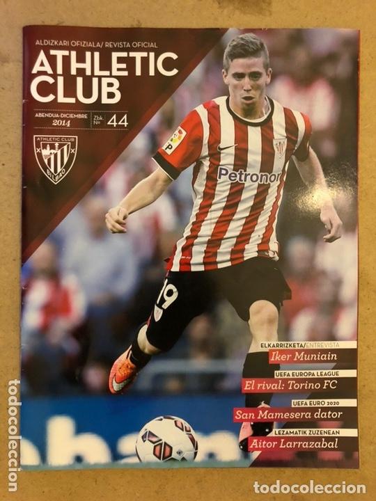 ATHLETIC CLUB REVISTA OFICIAL N° 44 (DICIEMBRE 2014). IKER MUNIAIN, UEFA VS TORINO, AITOR LARRAZABAL (Coleccionismo Deportivo - Revistas y Periódicos - otros Fútbol)