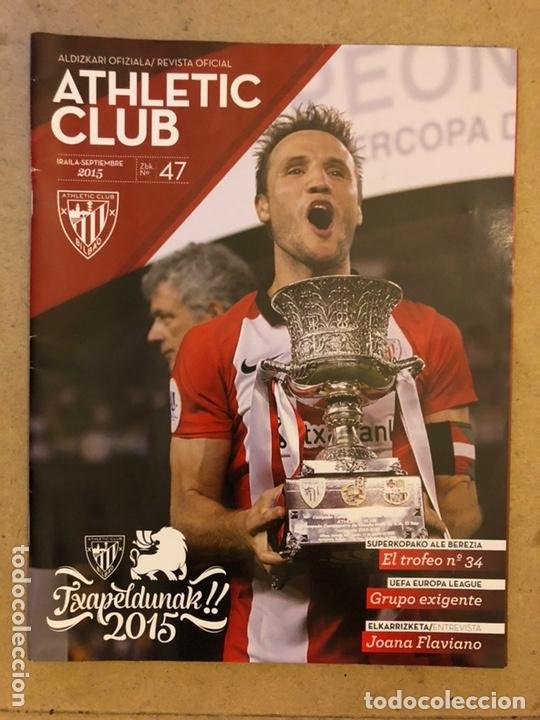 ATHLETIC CLUB REVISTA OFICIAL N° 47 (SEPTIEMBRE 2015). CAMPEONES SUPERCOPA 2015 VS BARÇA,... (Coleccionismo Deportivo - Revistas y Periódicos - otros Fútbol)