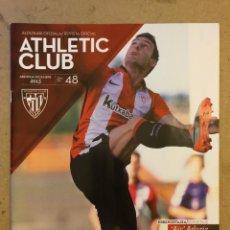 """Coleccionismo deportivo: ATHLETIC CLUB REVISTA OFICIAL N° 48 (DICIEMBRE 2015). ARITZ """"AIR"""" ADURIZ, UEFA VS OLYMPIQUE MARSELLA. Lote 173822880"""
