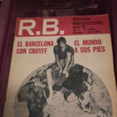 Coleccionismo deportivo: S2. 39. REVISTA BARCELONISTA. NÚMERO 457. BARCELONA 1 DE ENERO 1974. CRUYFF. Lote 173896710