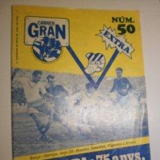 Coleccionismo deportivo: CARRER GRAN MAIG 1982 Nº 50 L'EUROPA: 75 ANYS, UN CLUB I UNA VILA. 30 PÀG 30X21 CM (BON ESTAT). Lote 173976043