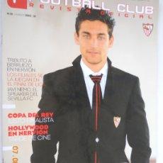 Colecionismo desportivo: JESUS NAVAS , GOLD FOOTBALL CLUB. REVISTA OFICIAL SEVILLA F.C. Nº 19 MARZO 2010. Lote 173981098