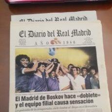 Coleccionismo deportivo: REAL MADRID CF. DIARIO OFICIAL. AÑOS 80. LOTE DE 9.. Lote 174285238