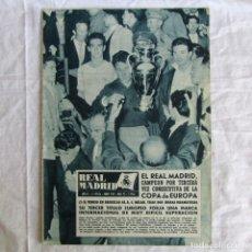 Coleccionismo deportivo: REVISTA REAL MADRID Nº 95 1958 CAMPEÓN POR TERCERA VEZ DE LA COPA DE EUROPA. Lote 174525137