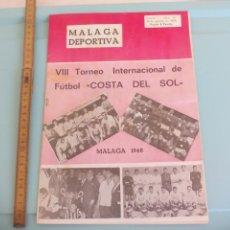 Coleccionismo deportivo: Nº 60 1968 MÁLAGA DEPORTIVA. SEMANARIO DEPORTIVO MALAGUEÑO VIII TORNEO COSTA DEL SOL.RACING CLUB B.A. Lote 175073770