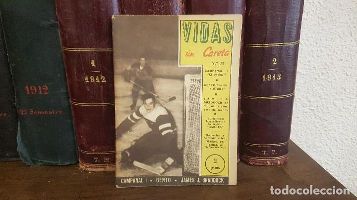 VIDAS SIN CARETA Nº 21 CAMPANAL - GENTO - JAMES J. BRADDOCK (Coleccionismo Deportivo - Revistas y Periódicos - otros Fútbol)