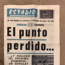 Coleccionismo deportivo: ESTADIO N° 65 (23/11/1970). ATHLETIC CLUB 0-0 VALENCIA, TODOS LOS PARTIDOS 1ª, 2ª Y 3ª DIVISIÓN,.... Lote 175497939