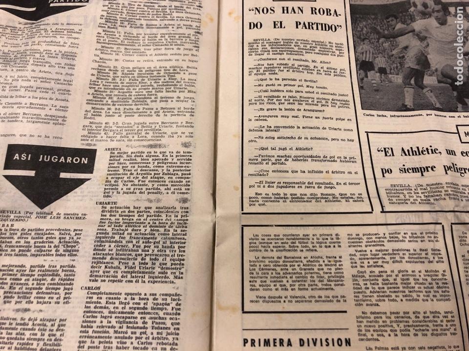 Coleccionismo deportivo: ESTADIO N° 66 (30/11/1970). SEVILLA FC 3-2 ATHLETIC CLUB, PARTIDOS de1ª, 2ª y 3ª DIVISIÓN,REAL GIJÓN - Foto 3 - 175499684