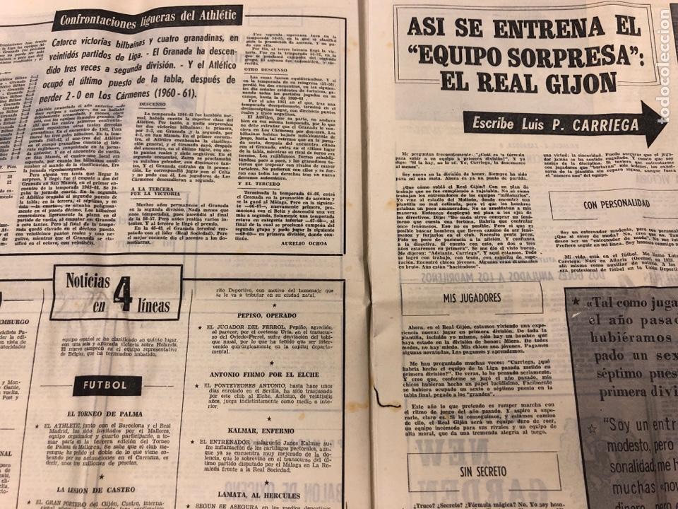 Coleccionismo deportivo: ESTADIO N° 66 (30/11/1970). SEVILLA FC 3-2 ATHLETIC CLUB, PARTIDOS de1ª, 2ª y 3ª DIVISIÓN,REAL GIJÓN - Foto 4 - 175499684