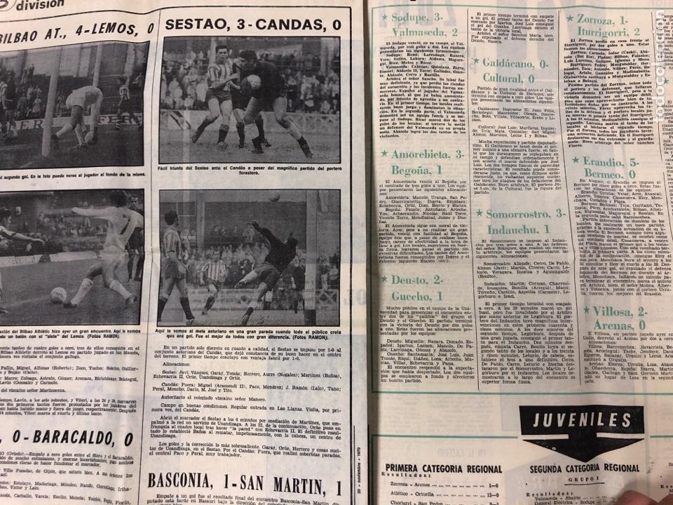 Coleccionismo deportivo: ESTADIO N° 66 (30/11/1970). SEVILLA FC 3-2 ATHLETIC CLUB, PARTIDOS de1ª, 2ª y 3ª DIVISIÓN,REAL GIJÓN - Foto 7 - 175499684