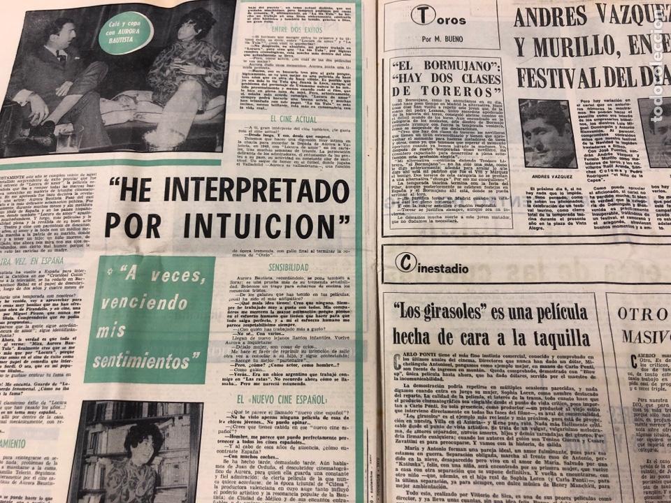 Coleccionismo deportivo: ESTADIO N° 66 (30/11/1970). SEVILLA FC 3-2 ATHLETIC CLUB, PARTIDOS de1ª, 2ª y 3ª DIVISIÓN,REAL GIJÓN - Foto 10 - 175499684