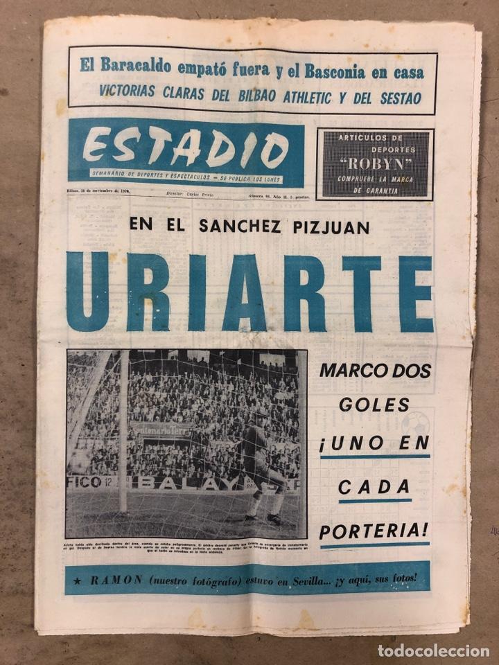 ESTADIO N° 66 (30/11/1970). SEVILLA FC 3-2 ATHLETIC CLUB, PARTIDOS DE1ª, 2ª Y 3ª DIVISIÓN,REAL GIJÓN (Coleccionismo Deportivo - Revistas y Periódicos - otros Fútbol)