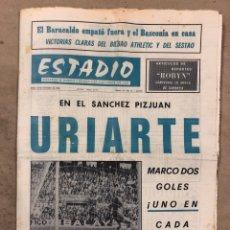 Coleccionismo deportivo: ESTADIO N° 66 (30/11/1970). SEVILLA FC 3-2 ATHLETIC CLUB, PARTIDOS DE1ª, 2ª Y 3ª DIVISIÓN,REAL GIJÓN. Lote 175499684