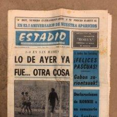 Coleccionismo deportivo: ESTADIO N° 69 (14/12/1970). ATHLETIC CLUB 3-0 GIJÓN. PARTIDOS LIGA 1ª, 2ª, 3ª Y REGIONAL, LO MEJOR D. Lote 175501768