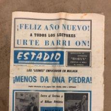 Coleccionismo deportivo: ESTADIO N° 70 (28/12/1970). MALAGA 3-3 ATHLETIC CLUB, PARTIDOS LIGA 1ª, 2ª, 3ª, KAS (BALONCESTO),..,. Lote 175502979