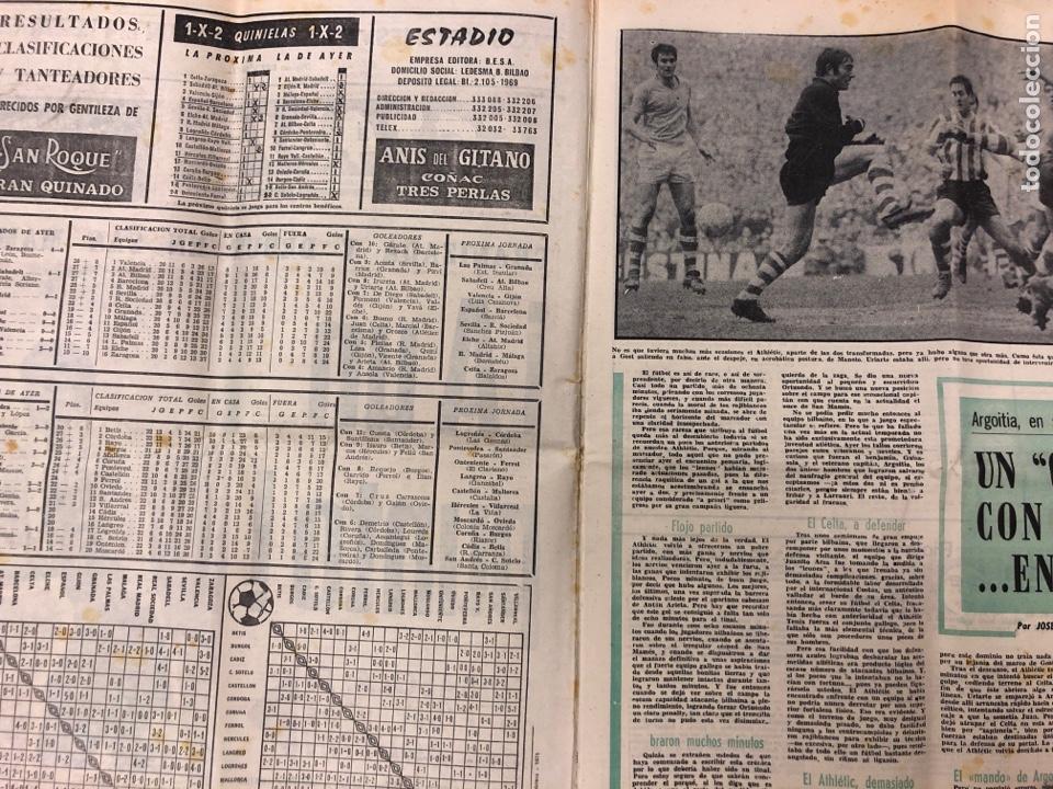 Coleccionismo deportivo: ESTADIO N° 75 (1/2/1971). ATHLETIC CLUB 2-0 CELTA VIGO. PARTIDOS LIGA 1ª, 2ª, 3ª, LEZAMA, GUISASOLA - Foto 2 - 175505495