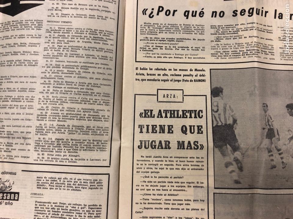 Coleccionismo deportivo: ESTADIO N° 75 (1/2/1971). ATHLETIC CLUB 2-0 CELTA VIGO. PARTIDOS LIGA 1ª, 2ª, 3ª, LEZAMA, GUISASOLA - Foto 3 - 175505495