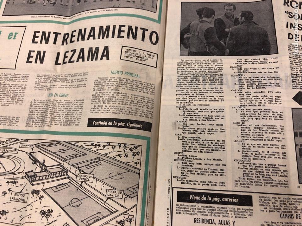 Coleccionismo deportivo: ESTADIO N° 75 (1/2/1971). ATHLETIC CLUB 2-0 CELTA VIGO. PARTIDOS LIGA 1ª, 2ª, 3ª, LEZAMA, GUISASOLA - Foto 5 - 175505495