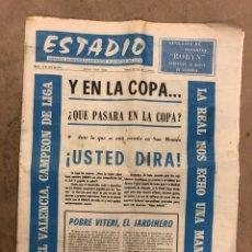 Coleccionismo deportivo: ESTADIO N° 86 (19/4/1971). VALENCIA CAMPEÓN DE LIGA, ATHLETIC CLUB 2-1 MÁLAGA,... Lote 175516928