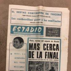 Collezionismo sportivo: ESTADIO N° 147 (19/6/1972). REAL SOCIEDAD 1-1 ATHLETIC CLUB COPA DEL GENERALÍSIMO, CÁDIZ 2-2 SESTAO. Lote 175518849