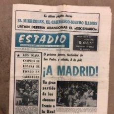 Collezionismo sportivo: ESTADIO N° 148 (26/6/1972). ATHLETIC CLUB 2-0 REAL SOCIEDAD COPA DEL GENERALÍSIMO, MANDO RAMOS VS CA. Lote 175519210