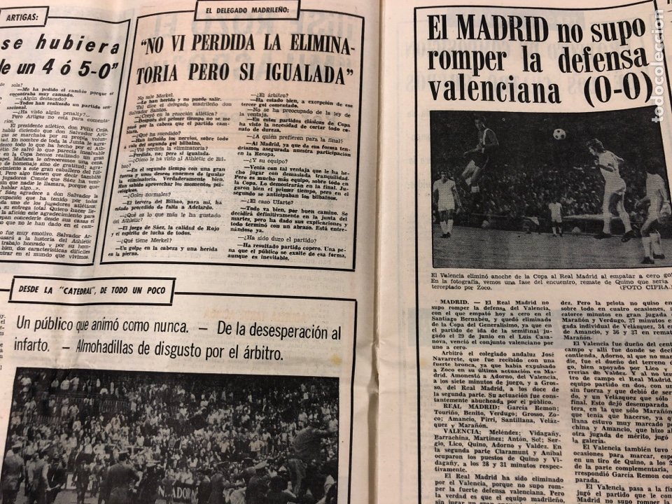 Coleccionismo deportivo: ESTADIO N° 149 (2/7/1972). ATHLETIC CLUB 3-1 ATLÉTICO DE MADRID COPA DEL GENERALÍSIMO, ÁNGEL NIETO,. - Foto 3 - 175519790