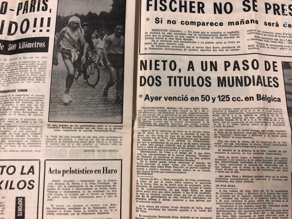 Coleccionismo deportivo: ESTADIO N° 149 (2/7/1972). ATHLETIC CLUB 3-1 ATLÉTICO DE MADRID COPA DEL GENERALÍSIMO, ÁNGEL NIETO,. - Foto 6 - 175519790