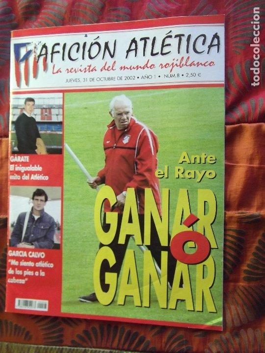 AFICION ATLETICA-V60-Nº8-2002-36 PAGINAS-POSTERS-AGUILERA-OVEJERO-SERGI (Coleccionismo Deportivo - Revistas y Periódicos - otros Fútbol)
