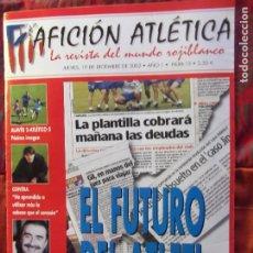 Coleccionismo deportivo: AFICION ATLETICA-V60-Nº15-2002-36 PAG.-POSTERS-VIERI-JAVI MORENO-SABAS-ESCUDERO-GARATE-AT.47-48. Lote 175796523
