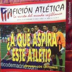 Coleccionismo deportivo: AFICION ATLETICA-V60-Nº16-2002-36 PAG.-POSTERS-MANOLO-SANTI-F.TORRES-INDI-ATLETICO 89-90-PEREIRA. Lote 175798468