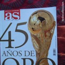 Coleccionismo deportivo: AS-45 AÑOS DE ORO-V60-ESPECIAL 45 ANIVERSARIO-170 PAGINAS. Lote 175894054