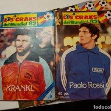 Coleccionismo deportivo: REVISTAS LOS 10 CRAKS DEL MUNDIAL 82 LOTE 9 BUEN ESTADO Y CON EL POSTER CENTRAL. Lote 177029790