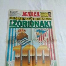Coleccionismo deportivo: MARCA ESPECIAL DERBY VASCO CENTENARIO REAL SOCIEDAD -ATHLETIC CLUB BILBAO / FUTBOL. Lote 177186613