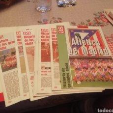 Coleccionismo deportivo: HISTORIA ATLETICO MADRID FUTBOL . 13 SUPEMENTOS . 1903- 1996. Lote 177486338